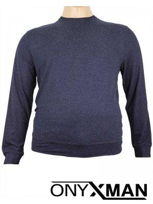 Блуза в синьо Големи размери 1104111