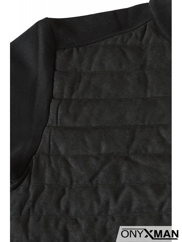 Черен суичър без качулка