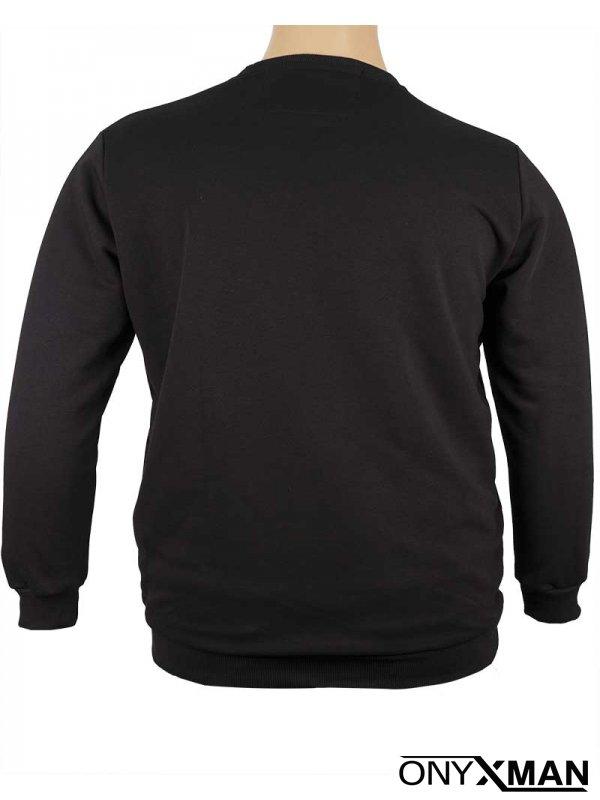 Блуза трико в черен цвят Големи размери