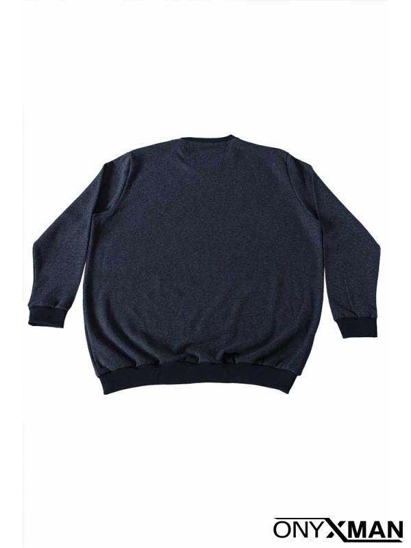 Блуза в тъмно синьо Големи размери