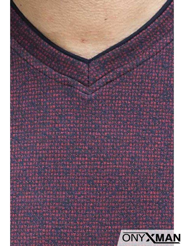 Стилна блуза в бордо