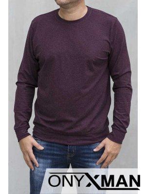 Кашмирена блуза в бордо