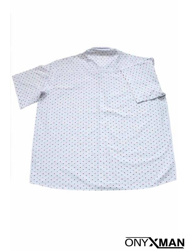 Мъжка риза с интересен принт за едри фигури