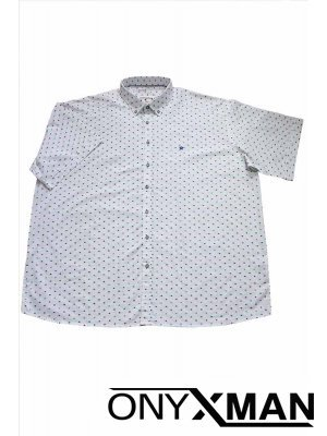 Мъжка риза с интересен принт Големи размери
