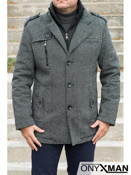 Сиво спортно - елегантно палто