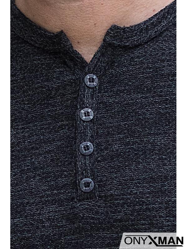 Блузка с копченца в черно