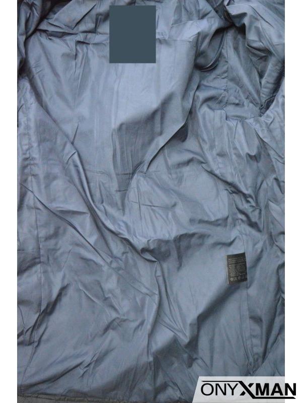 Мъжко вталено зимно яке в два цвята