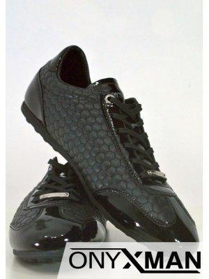Спортно-елегантни мъжки обувки с лачени елементи