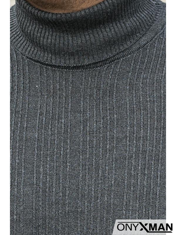 Вталено тънко поло в сиво