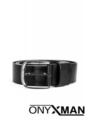Колан в черно със състарен ефект Големи размери