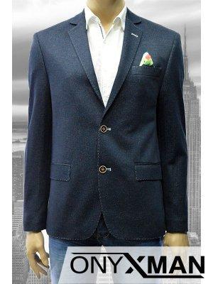 Стилно вталено мъжко сако в тъмно синьо