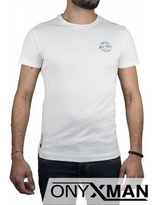 Тениска в бяло Just start