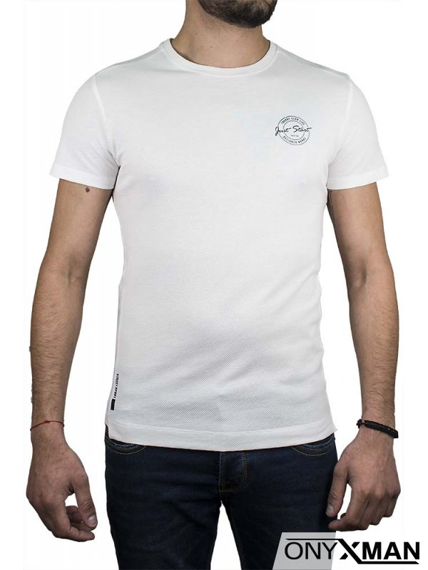 Тениска в цвят керемида Just start