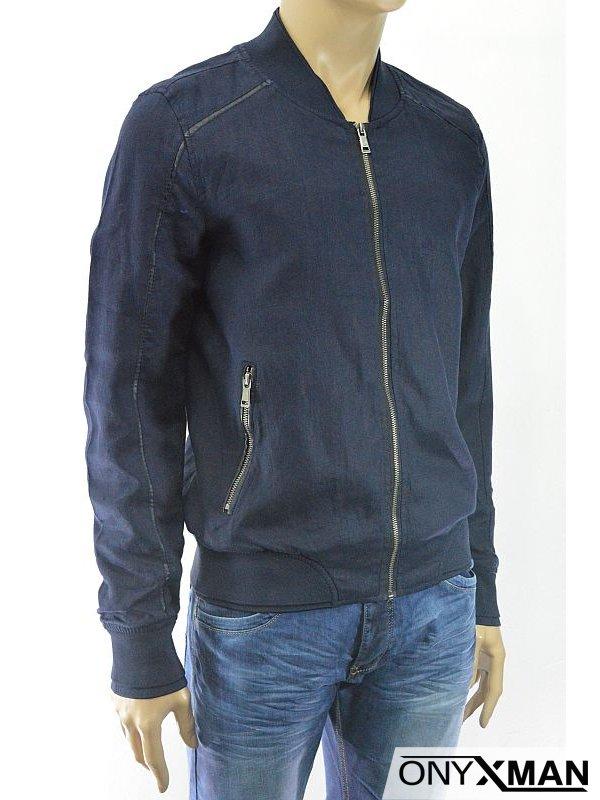 Модерно мъжко яке от лен в два цвята