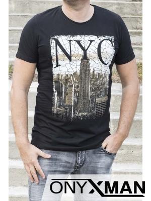 Тениска в черно Ню Йорк