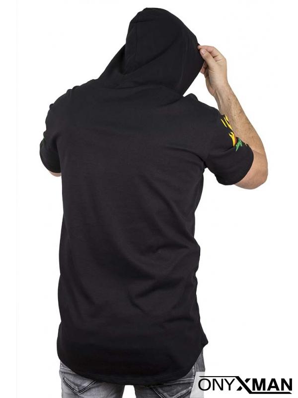 Анорак с къс ръкав в черен цвят