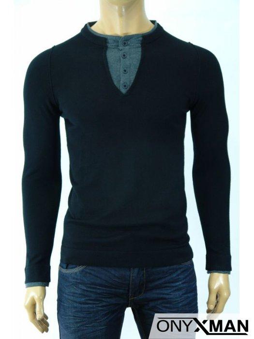 Модерна мъжка блуза в три цвята