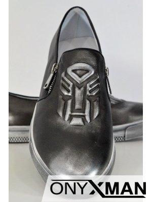 Модерни мъжки обувки в два цвята