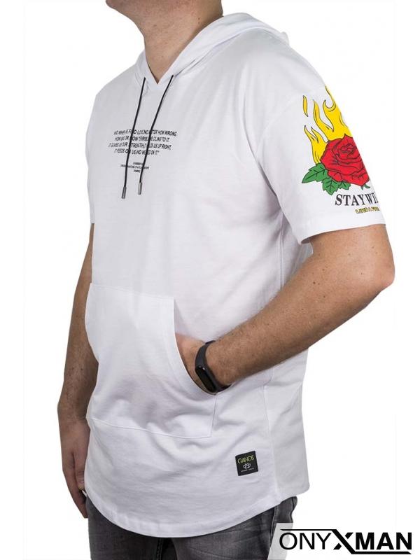 Анорак с къс ръкав в бяло
