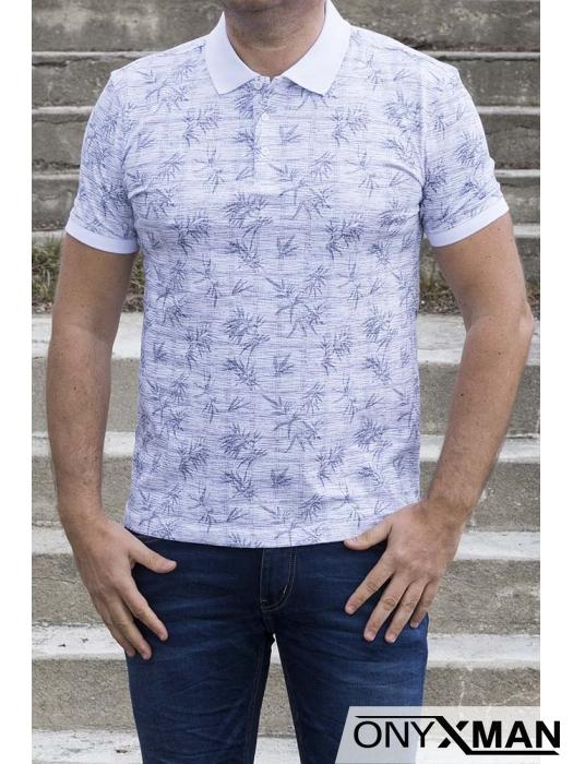Тениска с яка в бяло 151552