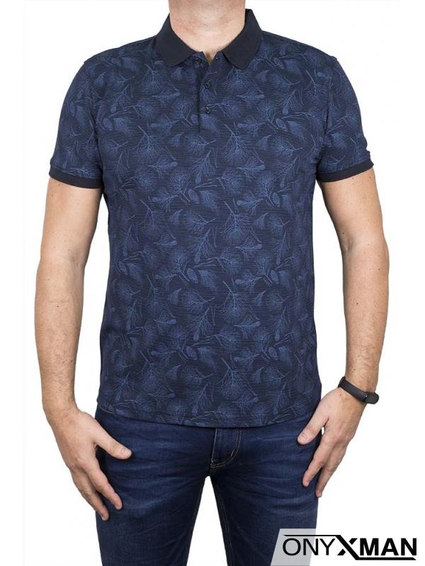 Поло тениска в тъмно синьо 151541