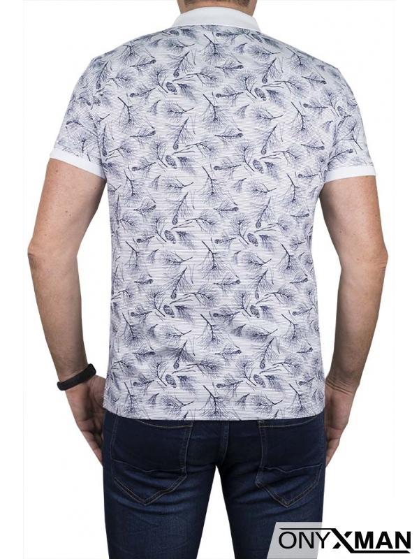 Поло тениска в бяло 151542