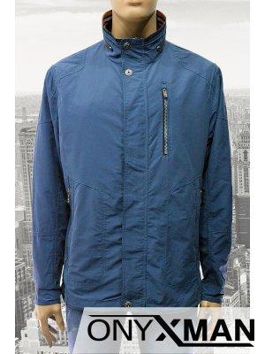 Модерно мъжко яке в син цвят