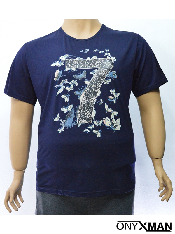 Модерна мъжка тениска с пролетен принт в два цвята
