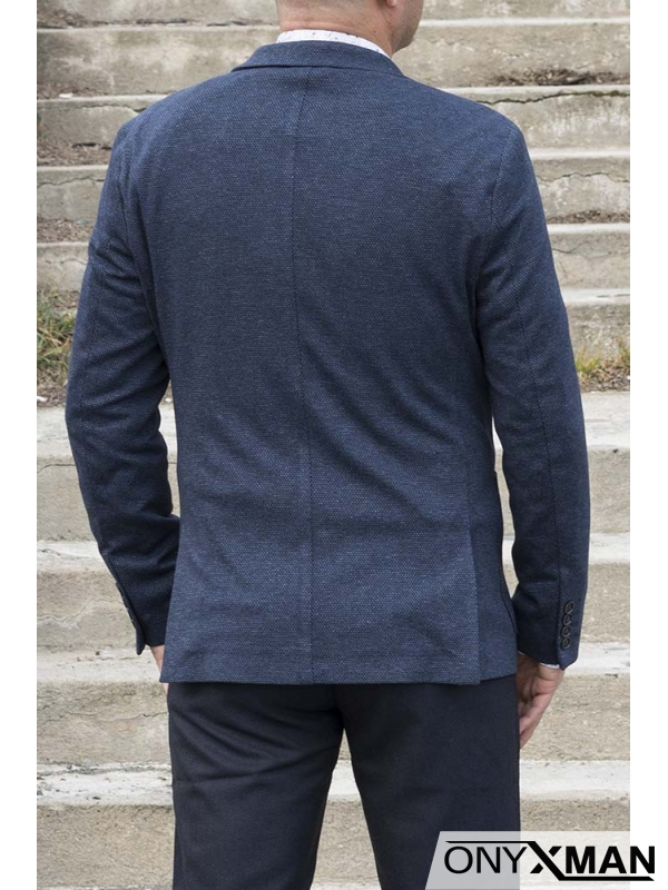 Мъжко сако в тъмно синьо