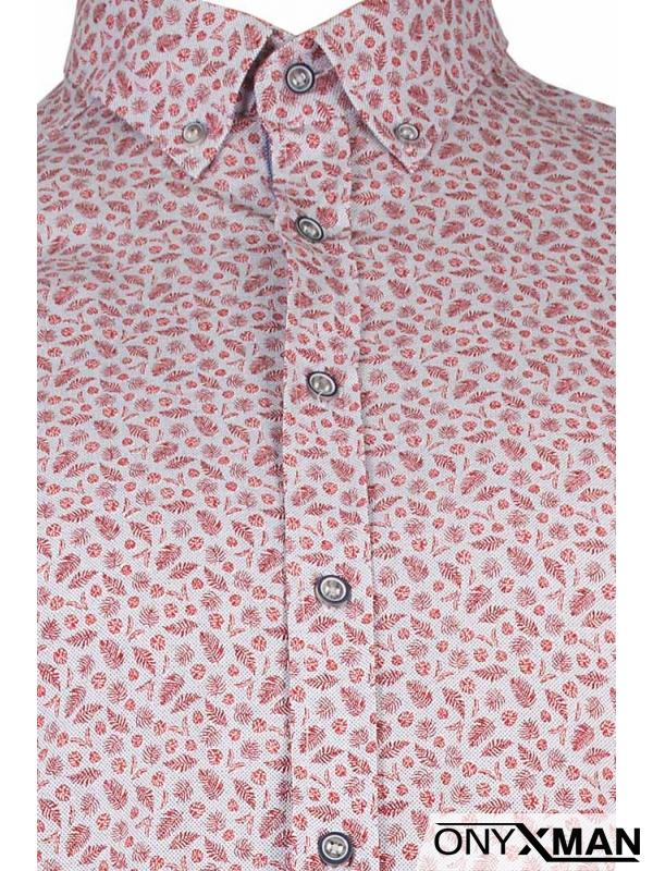 Модерна мъжка риза в бяло