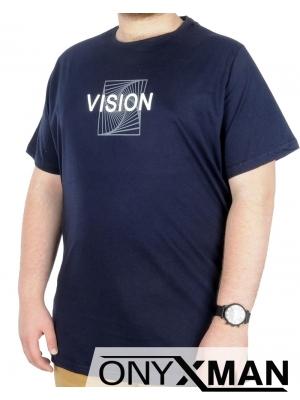 Мъжка тениска с принт Големи размери