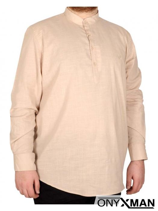 Модерна мъжка риза за едри фигури
