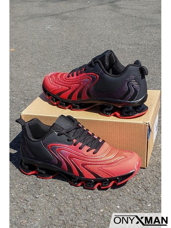 Маратонки в черно и червено