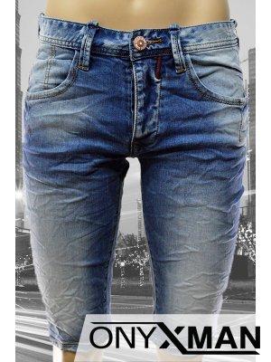 Модерни къси мъжки дънки деним