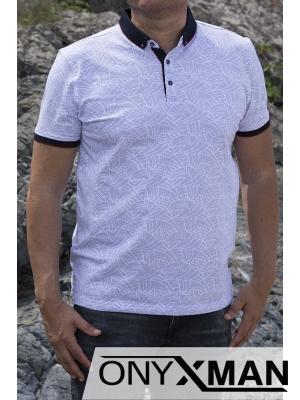 Стилна тениска с яка в бяло