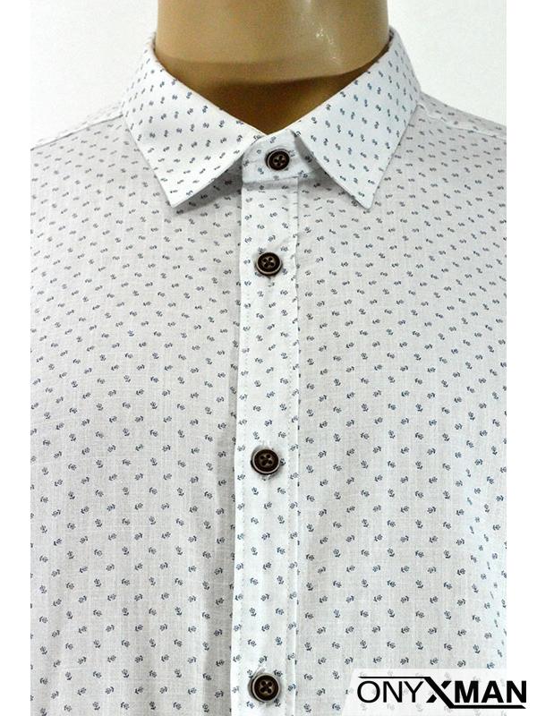 Стилна мъжка риза с къс ръкав в три цвята