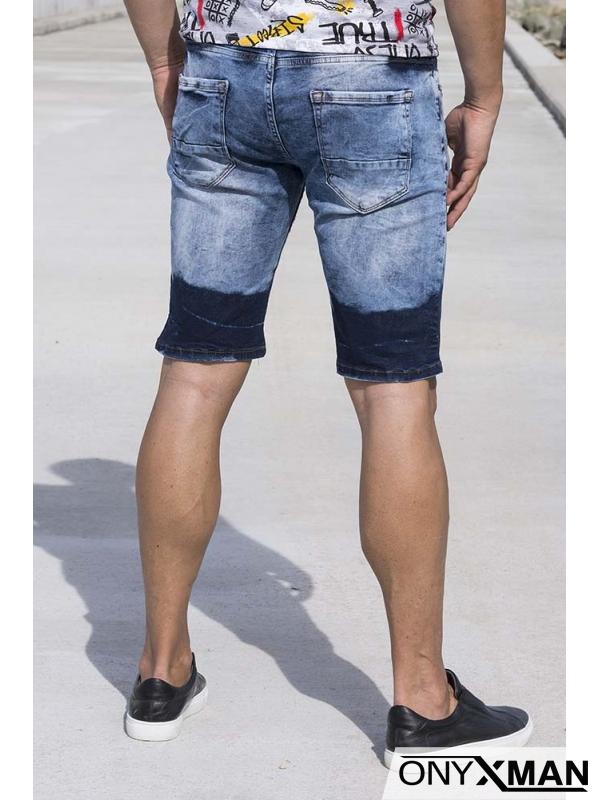 Преливащи къси сини дънки