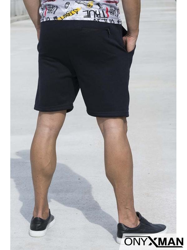 Къси спортни панталони в тъмно синьо