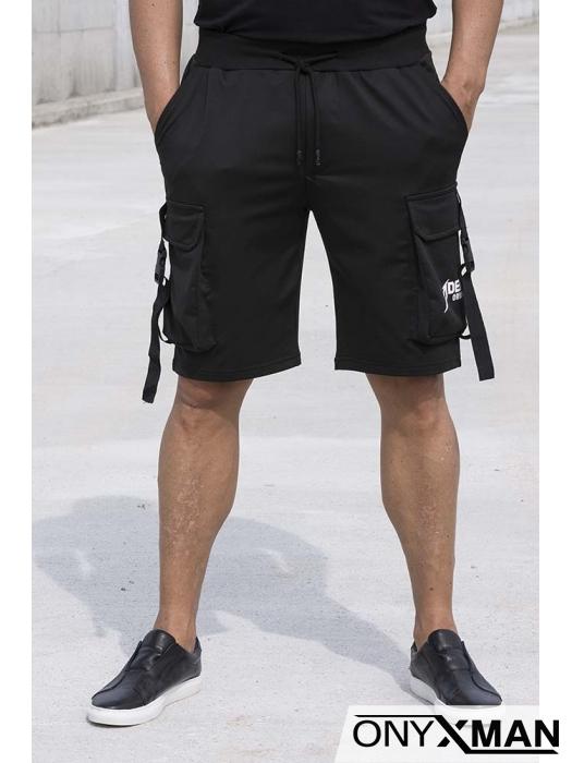 Къси спортни панталони с карго джобове