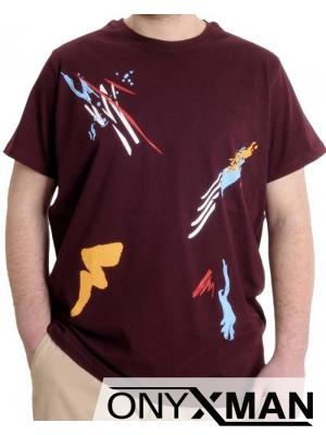 Стилна мъжка тениска с щампа Големи Размери