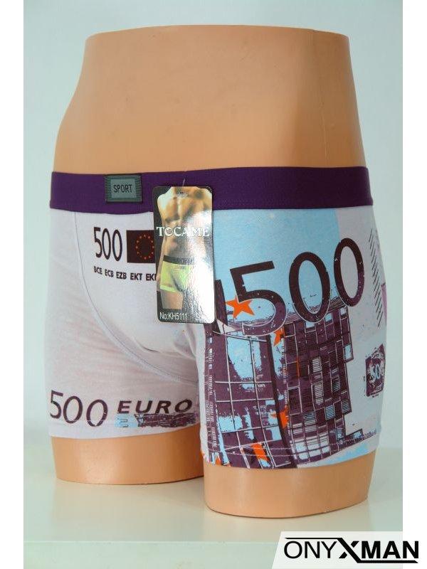 Мъжки боксер с щампа на евро валута