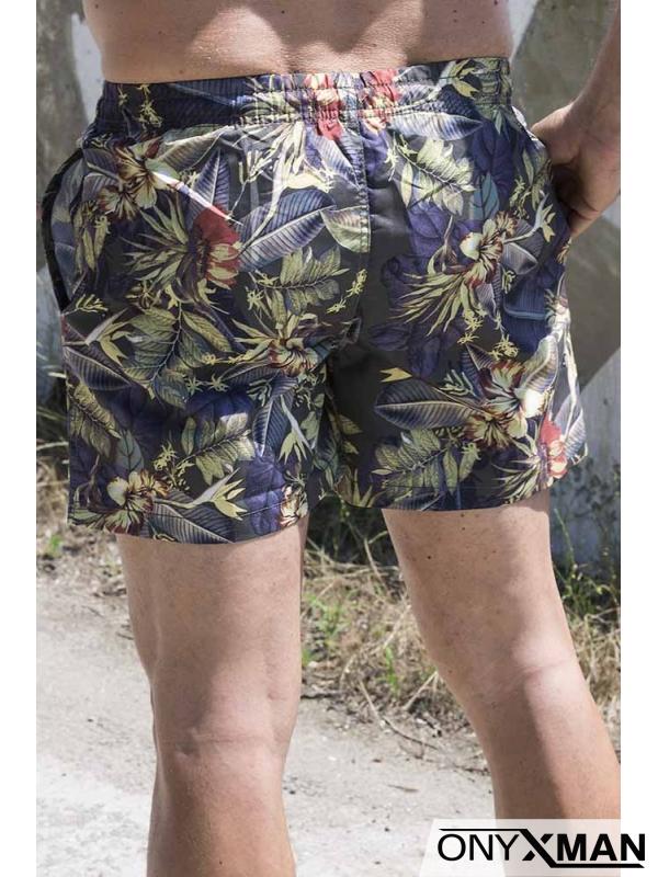 Мъжки плувни шорти с интересен десен