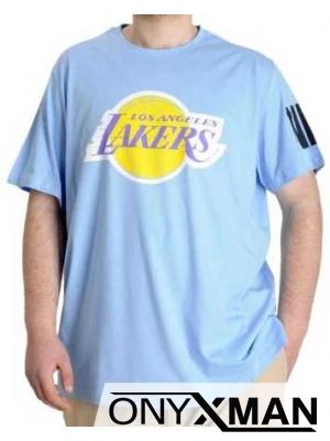 Макси тениска в светло синьо