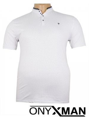 Макси тениска в бяло с попска яка