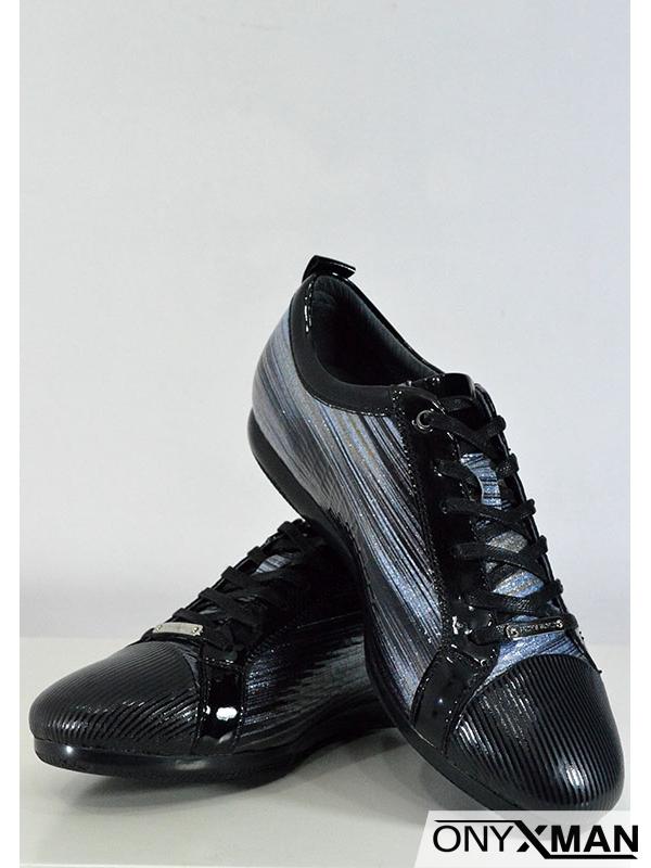 Спортно-елегантни мъжки обувки с блестяща повърхност