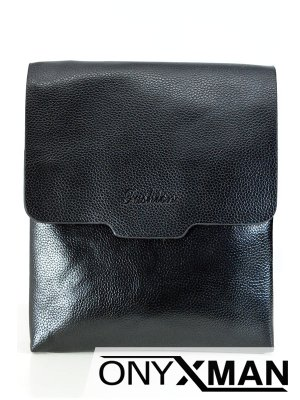 Модерна мъжка чанта с капак