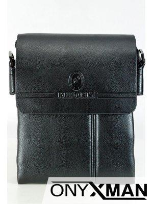 Стилна мъжка чанта с капак