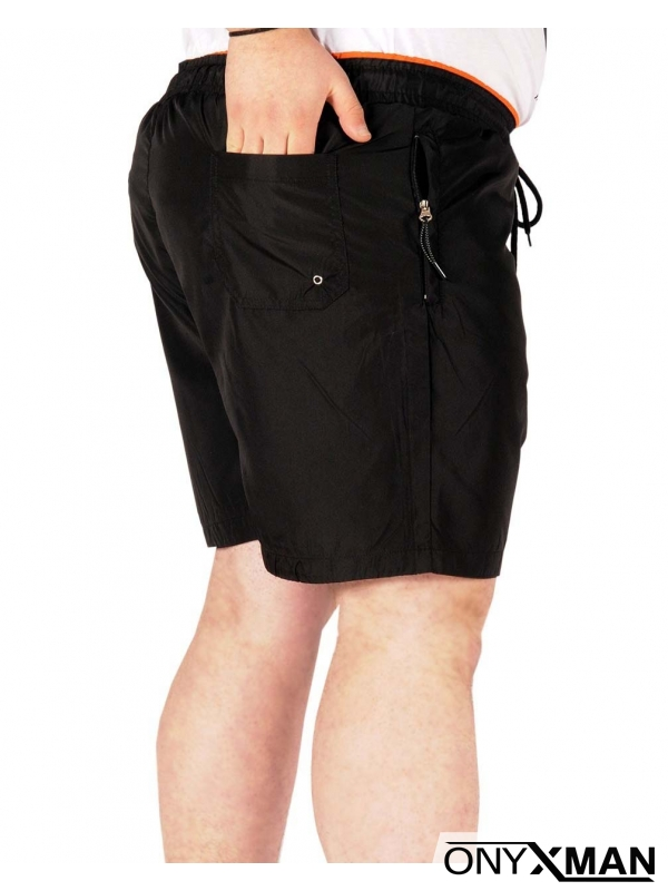 Плажни шорти в черно Големи размери