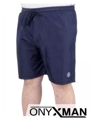 Плажни шорти в синьо Големи размери