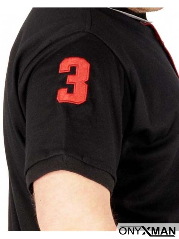 Макси поло тениска в черно